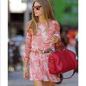 ASOS red paisley dress